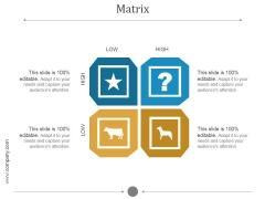 Matrix Ppt PowerPoint Presentation Slide Download