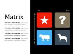 Matrix Ppt PowerPoint Presentation Summary Slides
