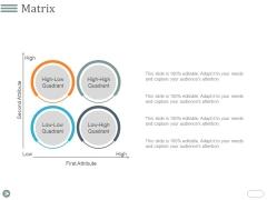 Matrix Ppt PowerPoint Presentation Summary Topics