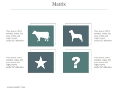 Matrix Ppt PowerPoint Presentation Template