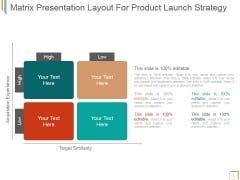 Matrix Presentation Layout For Product Launch Strategy Ppt PowerPoint Presentation Icon