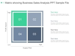 Matrix Showing Business Sales Analysis Ppt PowerPoint Presentation Introduction
