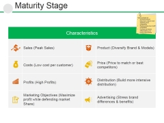 Maturity Stage Ppt PowerPoint Presentation Professional Ideas