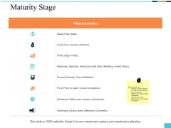 Maturity Stage Ppt PowerPoint Presentation Summary Gallery