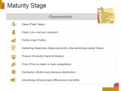 Maturity Stage Ppt PowerPoint Presentation Summary