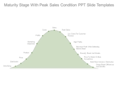 Maturity Stage With Peak Sales Condition Ppt Slide Templates