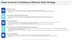 Maximizing Profitability Earning Through Sales Initiatives Steps Involved In Building An Effective Sales Strategy Formats PDF