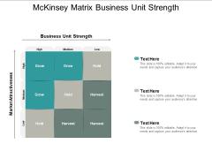 Mckinsey Matrix Business Unit Strength Ppt PowerPoint Presentation Outline Graphics Download
