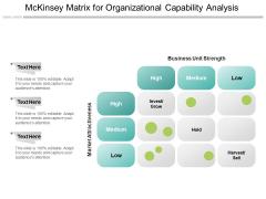 Mckinsey Matrix For Organizational Capability Analysis Ppt PowerPoint Presentation Summary Slides