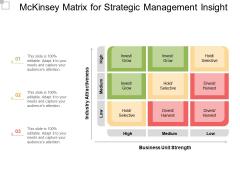 Mckinsey Matrix For Strategic Management Insight Ppt PowerPoint Presentation Ideas Inspiration