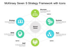 Mckinsey Seven S Strategy Framework With Icons Ppt PowerPoint Presentation Layouts Designs Download PDF