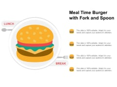 Meal Time Burger With Fork And Spoon Ppt PowerPoint Presentation Slides Visual Aids