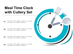 Meal Time Clock With Cutlery Set Ppt PowerPoint Presentation Infographic Template Example Topics