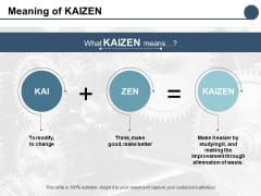 Meaning Of Kaizen Ppt PowerPoint Presentation Gallery Graphic Tips