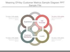 Meaning Of Key Customer Metrics Sample Diagram Ppt Sample File