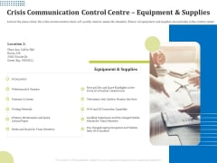 Means Of Communication During Disaster Management Crisis Communication Control Centre Equipment And Supplies Rules PDF