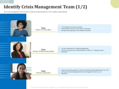 Means Of Communication During Disaster Management Identify Crisis Management Team Ppt Show Skills PDF