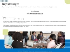 Means Of Communication During Disaster Management Key Messages Ppt Pictures Mockup PDF