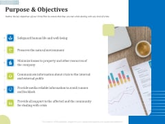Means Of Communication During Disaster Management Purpose And Objectives Ppt Slides Graphics Example PDF