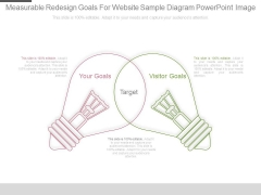 Measurable Redesign Goals For Website Sample Diagram Powerpoint Image