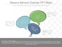 Measure Behavior Example Ppt Slides