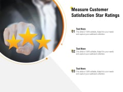 Measure Customer Satisfaction Star Ratings Ppt PowerPoint Presentation Styles Layout
