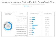 Measure Investment Risk In Portfolio Powerpoint Slide