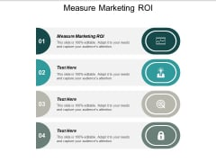 Measure Marketing ROI Ppt PowerPoint Presentation Infographic Template Templates Cpb
