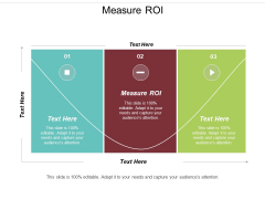 Measure Roi Ppt PowerPoint Presentation Layouts Icons Cpb