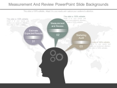 Measurement And Review Powerpoint Slide Backgrounds