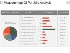 Measurement Of Portfolio Analysis Ppt PowerPoint Presentation Outline Graphic Images