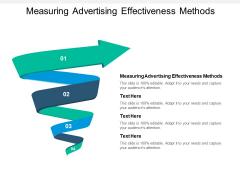 Measuring Advertising Effectiveness Methods Ppt PowerPoint Presentation Inspiration Summary