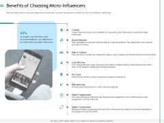 Measuring Influencer Marketing ROI Benefits Of Choosing Micro Influencers Information PDF
