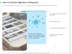 Measuring Influencer Marketing ROI How To Find The Right Micro Influencers Sample PDF