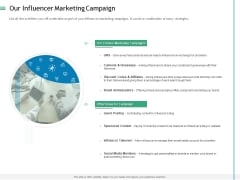 Measuring Influencer Marketing ROI Our Influencer Marketing Campaign Formats PDF