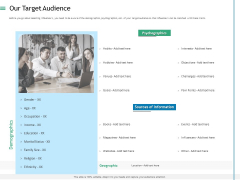 Measuring Influencer Marketing ROI Our Target Audience Ppt Portfolio Maker PDF