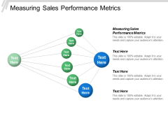 Measuring Sales Performance Metrics Ppt PowerPoint Presentation File Example Topics Cpb
