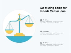 Measuring Scale For Goods Vector Icon Ppt PowerPoint Presentation Gallery Rules PDF