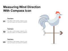 Measuring Wind Direction With Compass Icon Ppt PowerPoint Presentation Icon Infographics PDF