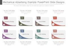 Mechanical Advertising Example Powerpoint Slide Designs