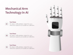 Mechanical Arm Technology In AI Ppt PowerPoint Presentation File Templates PDF