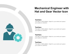 Mechanical Engineer With Hat And Gear Vector Icon Ppt PowerPoint Presentation Visual Aids Professional
