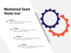 Mechanical Gears Vector Icon Ppt PowerPoint Presentation Outline Themes PDF