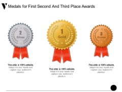 Medals For First Second And Third Place Awards Ppt PowerPoint Presentation Outline Example Introduction