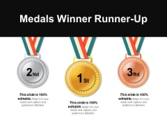 Medals Winner Runner-Up Ppt PowerPoint Presentation Ideas Layouts