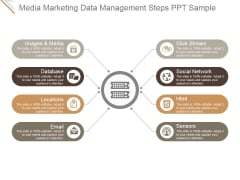 Media Marketing Data Management Steps Ppt PowerPoint Presentation Guide