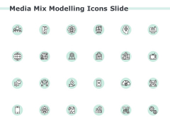 Media Mix Modelling Icons Slide Technology Ppt PowerPoint Presentation Portfolio Aids