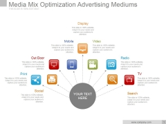 Media Mix Optimization Advertising Mediums Ppt PowerPoint Presentation Template