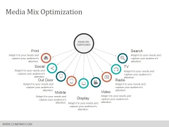 Media Mix Optimization Ppt PowerPoint Presentation Show Graphics