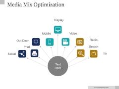 Media Mix Optimization Ppt PowerPoint Presentation Slides